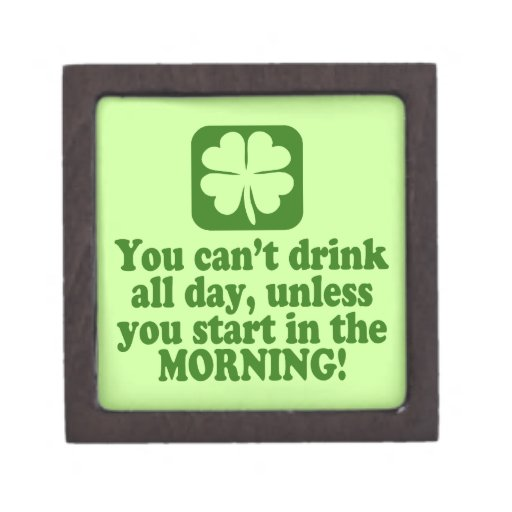 Funny St Patricks Day Drinking Premium Trinket Boxes