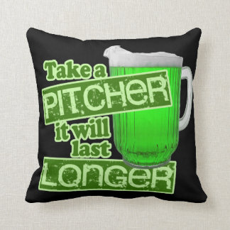 Funny St. Patrick's Day Drinking Throw Pillows