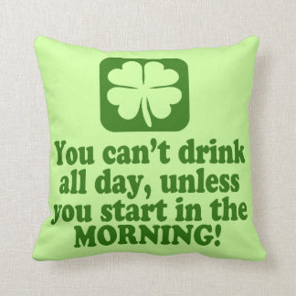 Funny St Patricks Day Drinking Throw Pillows