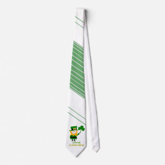 FUNNY ST PATRICKS DAY GIFT, IRISH MAN AND SHAMROCK NECK TIE