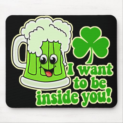 Funny St Patricks Day Green Beer Mouse Pad