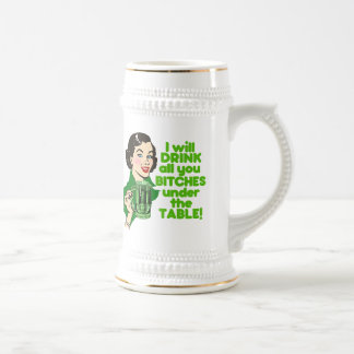 Funny St. Patrick's Day Green Beer Mugs