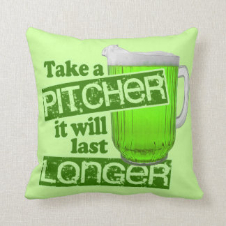 Funny St. Patrick's Day Green Beer Pillow
