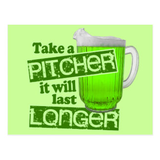 Funny St. Patrick's Day Green Beer Postcard