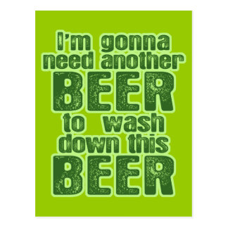 Funny St. Patrick's Day Green Beer Postcards