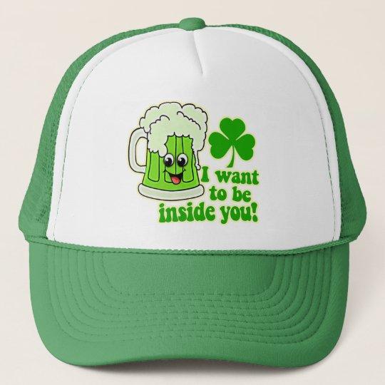 Funny St Patricks Day Green Beer Trucker Hat