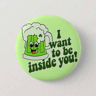 Funny St Patricks Day Irish Button