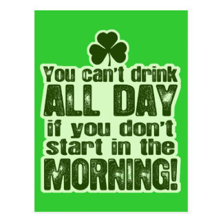 Funny St Patrick's Day Irish Postcard