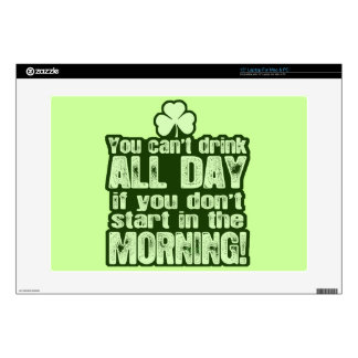 Funny St Patrick's Day Irish Laptop Decals