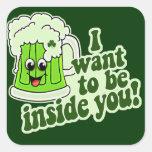 Funny St Patricks Day Irish Square Sticker