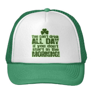 Funny St Patrick's Day Irish Trucker Hat