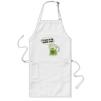 Funny St Patricks Day Long Apron