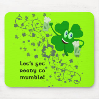 Funny St Patricks Day Mousepad