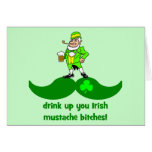 funny St. Patrick's Day mustache Cards