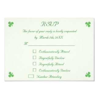 Funny St Patrick's Day Party RSVP Invitation Card