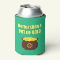 Funny St. Patrick's Day Pot of Gold Can Cooler