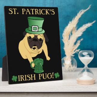 Funny St. Patrick's Irish Pug Plaques