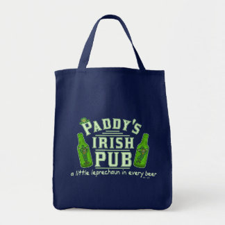 Funny St Patrick's Leprechaun Irish Pub Tote Bag