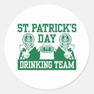 Funny St. Patricks's Day Classic Round Sticker