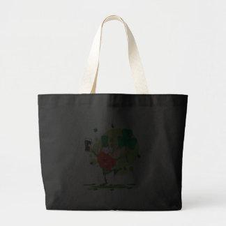 funny st pattys day leprechaun cartoon character jumbo tote bag