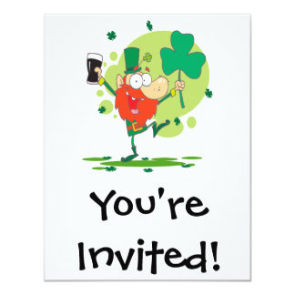funny st pattys day leprechaun cartoon character card