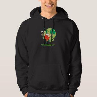 funny st pattys day leprechaun cartoon character hoodies