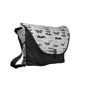 Funny Stache Courier Bag