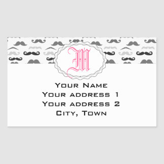 Funny Stache Rectangle Stickers