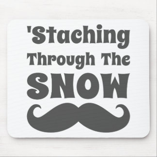 Funny Staching Through The Snow Mouse Pad