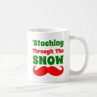 Funny Staching Through The Snow Coffee Mug