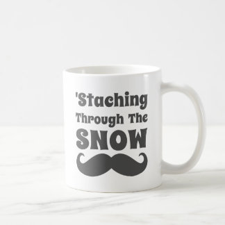 Funny Staching Through The Snow Coffee Mugs