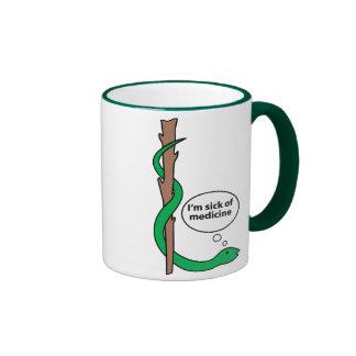 Funny Staff of Asclepius Ringer Coffee Mug