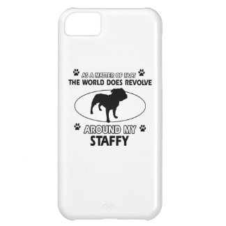 Funny staffy designs iPhone 5C cases