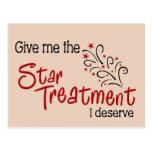 Funny Star Treatment Postcard