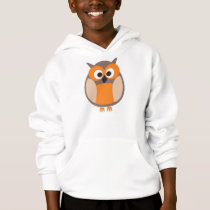 Funny staring cartoon owl hooded Sweatshirt