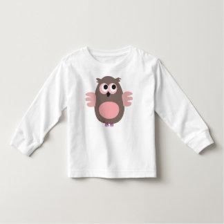 Funny staring cartoon owl long sleeve t-shirt