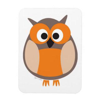 Funny staring cartoon owl magnet