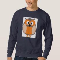 Funny staring cartoon owl Sweatshirt