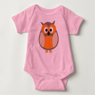 Funny staring owl baby bodysuit