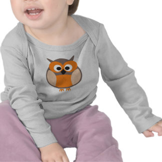 Funny staring owl baby long sleeve shirt