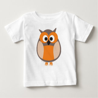 Funny staring owl baby t-shirt