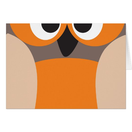 Funny staring owl card