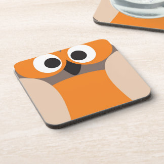 Funny staring owl drink coaster