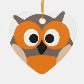 Funny staring owl christmas ornaments