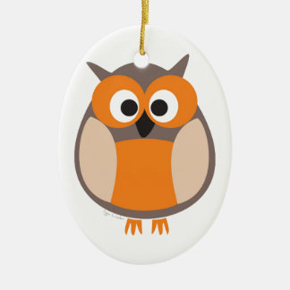Funny staring owl christmas tree ornaments