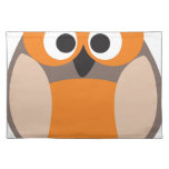 Funny staring owl placemats