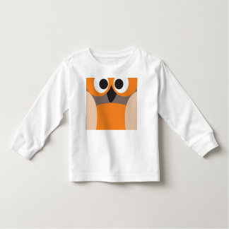 Funny staring owl toddler t-shirt