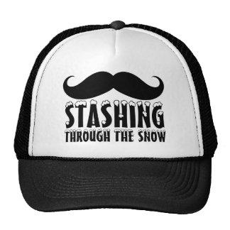 Funny Stashing Through The Snow Hat