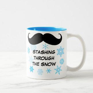 Funny Stashing Through the Snow Mug
