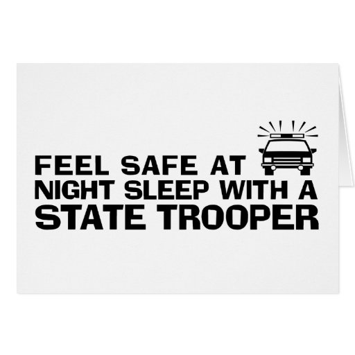 Funny State Trooper Cards
